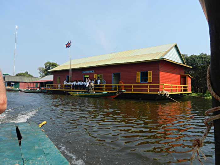 Tonle Lake Floating School